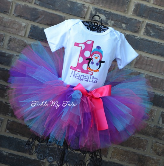 Winter Hat Penguin Birthday Tutu Outfit (Nayaliz)
