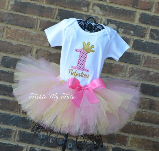Pink and Gold Diva Princess Crown Tutu Outfit