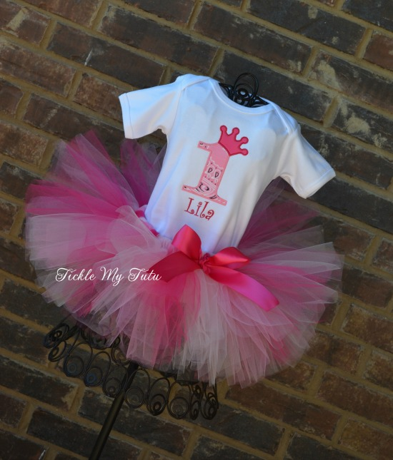 Pink Cowgirl Princess Birthday Tutu Outfit