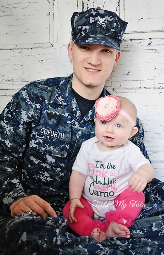 I'm the Pink in My Daddy's World of Camo Shirt