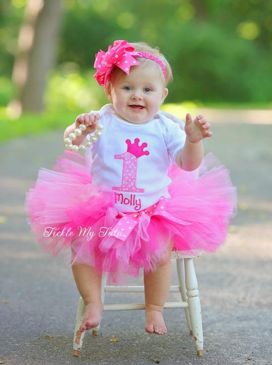 Pink Passion Princess Crown Birthday Tutu Outfit