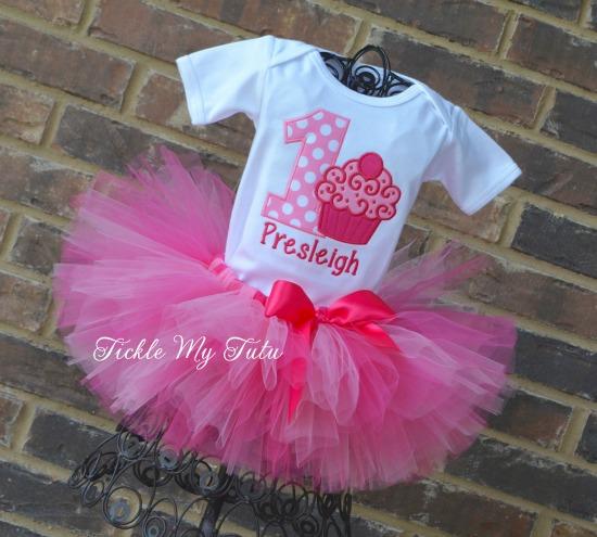 Pink Passion Cupcake Swirl Birthday Tutu Outfit