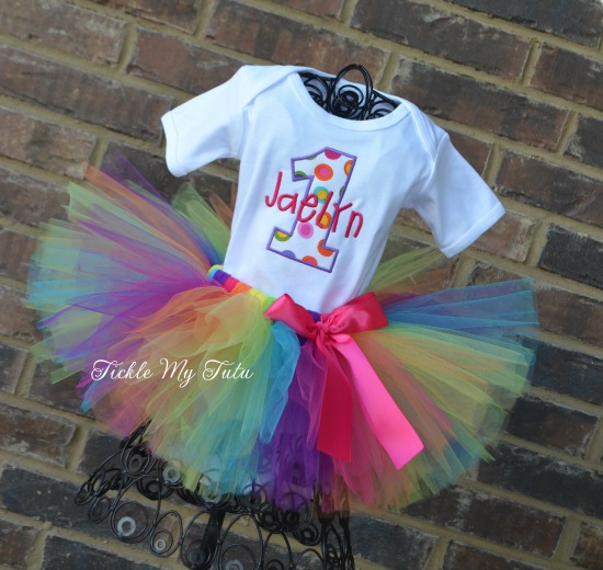 Polka Dot Party Birthday Tutu Outfit