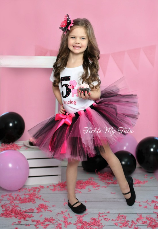 Pink Poodle Birthday Tutu Outfit