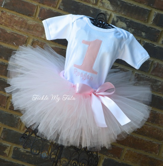"Pretty in Pink ""Reagan"" Birthday Tutu Outfit"