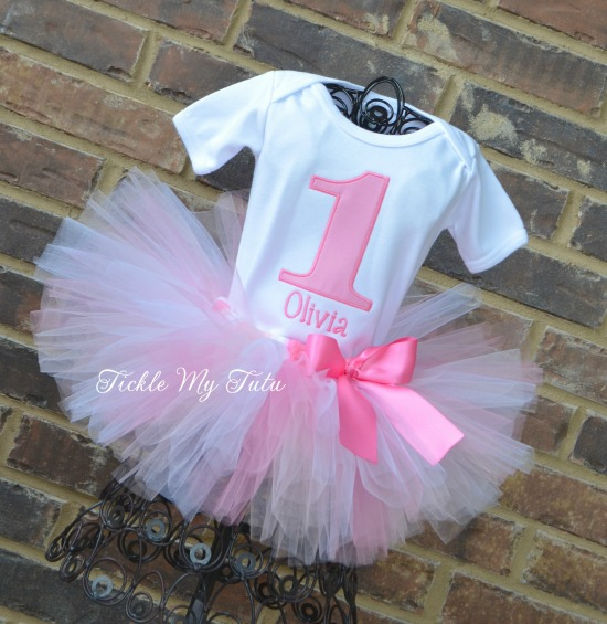"""Pretty in Pink """"Olivia"""" Birthday Tutu Outfit"""