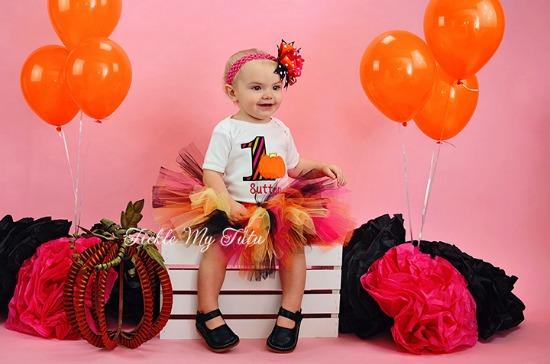 Pumpkin Glitz Birthday Tutu Outfit