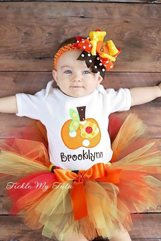 Pumpkin Harvest Fall/Halloween/Thanksgiving Tutu Outfit