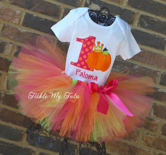 Pumpkin Patch Princess Birthday Tutu Outfit