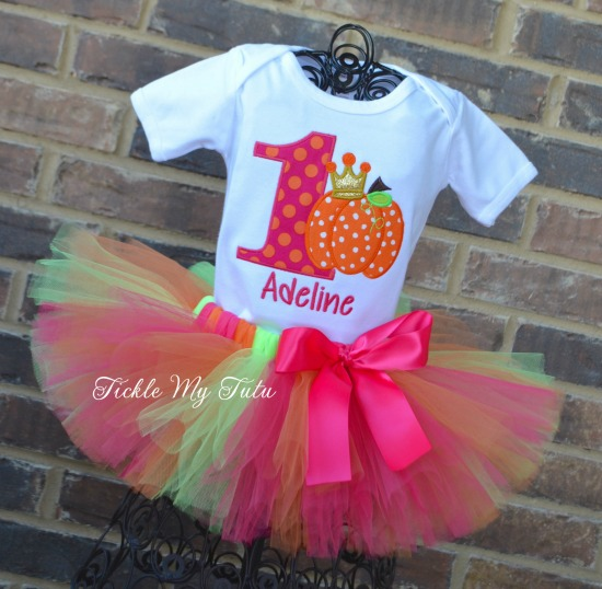 Pumpkin Patch Princess Birthday Tutu Outfit (Polka Dot Pumpkin)