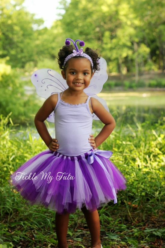 Purple and Lilac Butterfly Tutu and Wing Halloween Costume