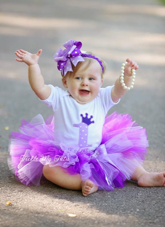 Purple Passion Princess Crown Birthday Tutu Outfit