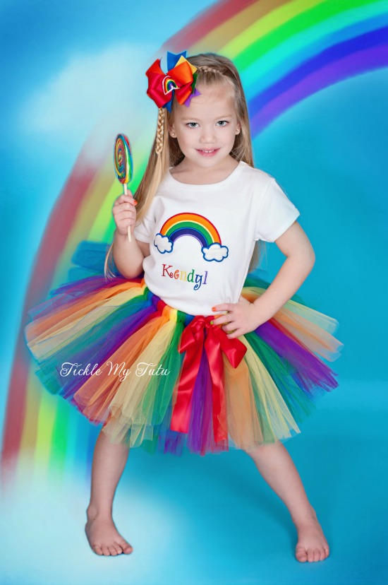 Over the Rainbow Birthday Tutu Outfit