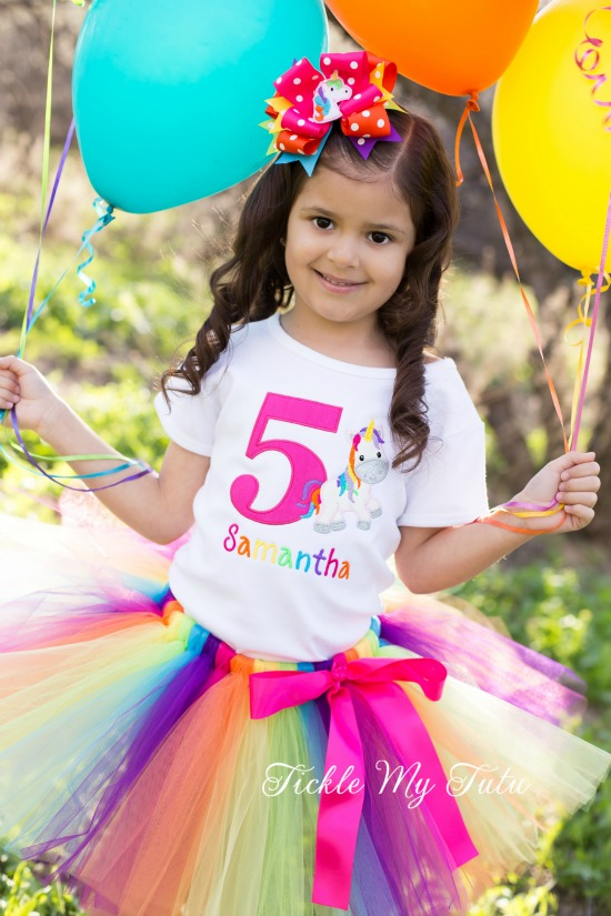 Rainbow Unicorn Cutie Birthday Tutu Outfit