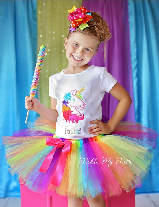 Rainbow Unicorn Birthday Tutu Outfit
