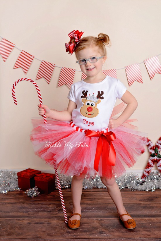 Reindeer Princess Christmas Tutu Outfit