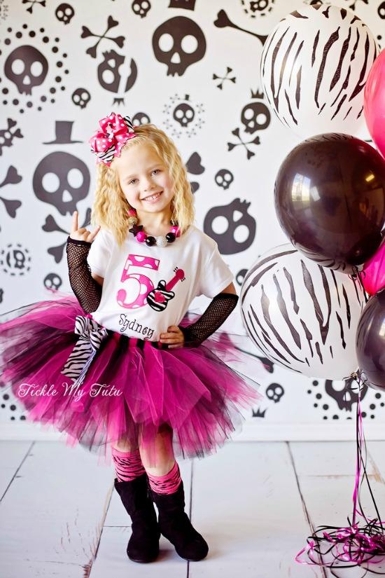 Rockstar Chic Birthday Tutu Outfit