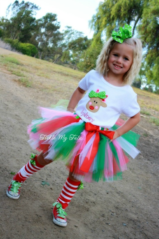 Rudolph Christmas Tutu Outfit