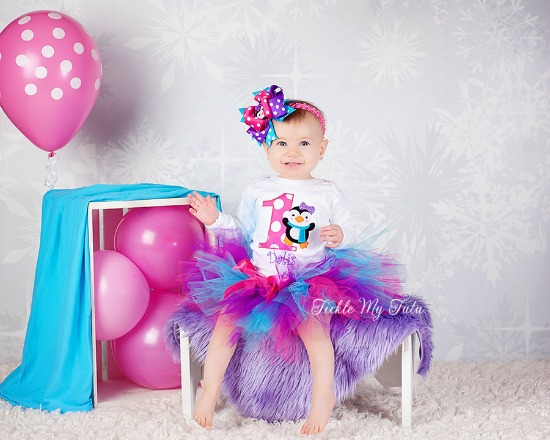 "Penguin Themed Winter ONEderland ""Dalis"" Birthday Tutu Outfit"