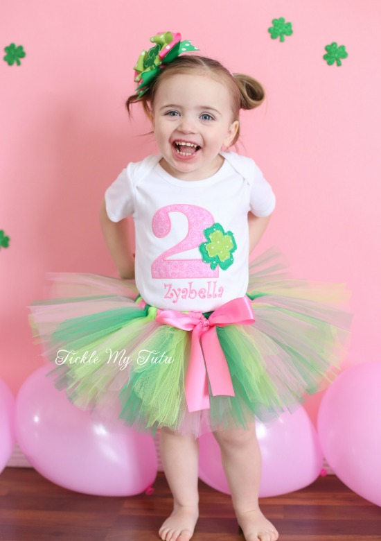 Shamrock Sweetheart Birthday Tutu Outfit