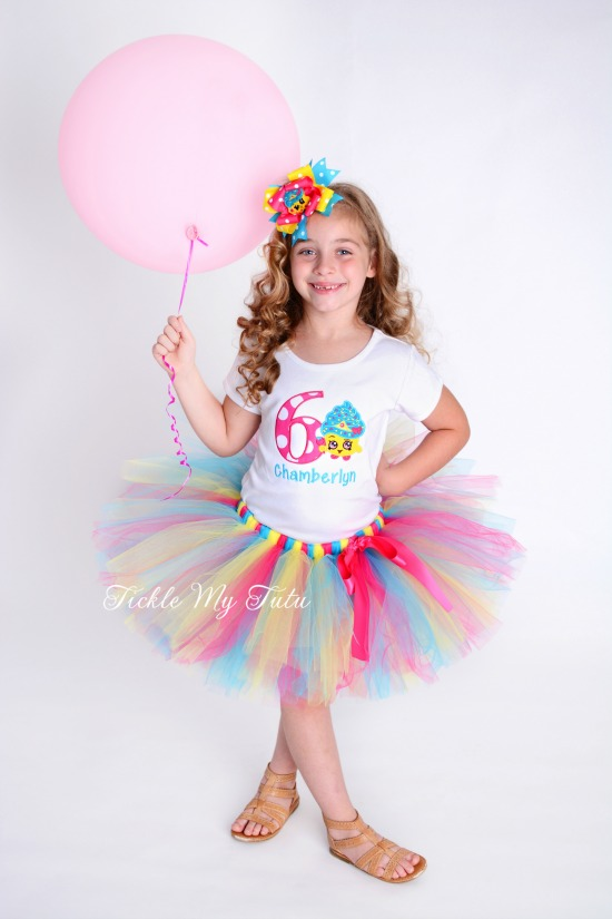 Shopkins Cupcake Queen Birthday Tutu Outfit