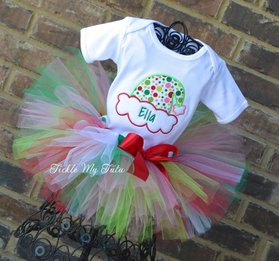 Silly Santa Hat Christmas Tutu Outfit
