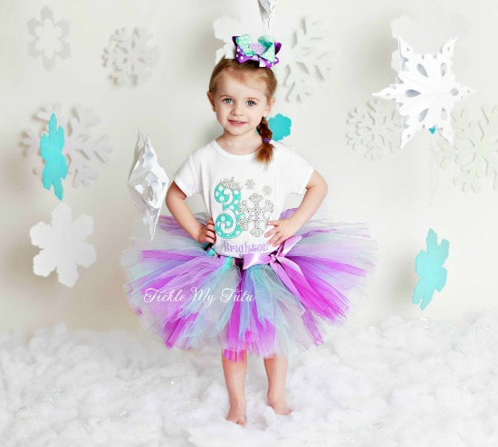 Snowflake Princess Birthday Tutu Outfit (Brighton)