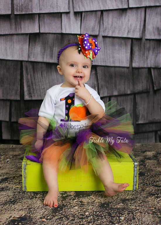 Spooky Little Pumpkin Birthday Tutu Outfit
