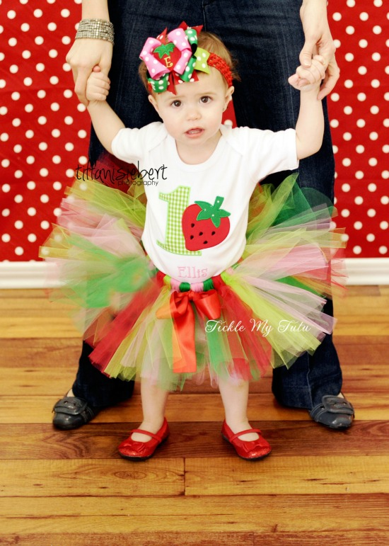 Strawberry Sweetheart Birthday Tutu Outfit (Lime Number)