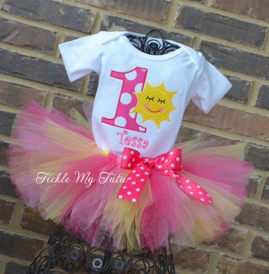 You Are My Sunshine Birthday Tutu Outfit (yellow sun)