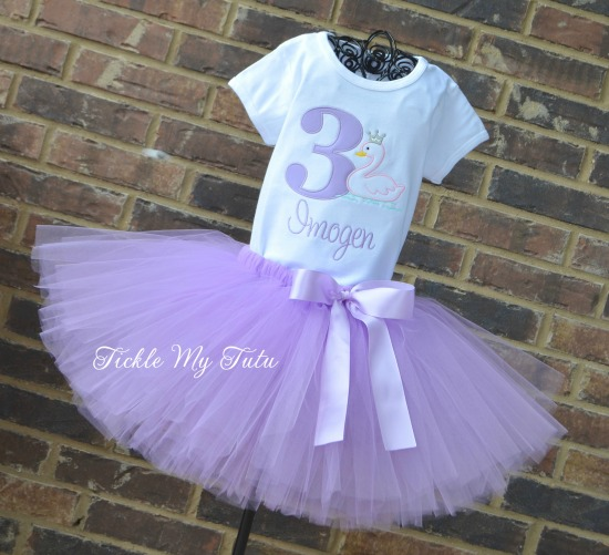 Swan Princess Birthday Tutu Outfit
