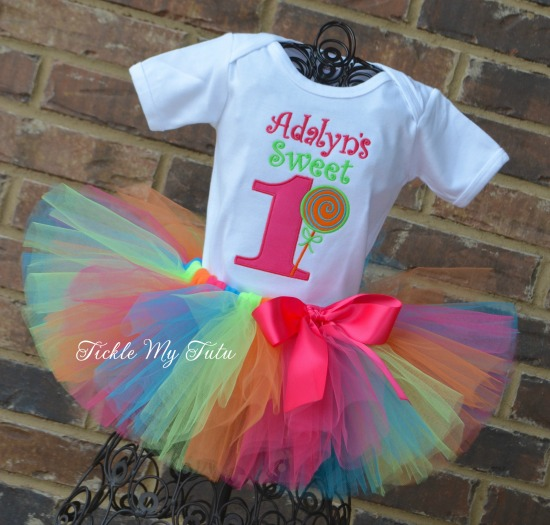 Sweet One Lollipop Birthday Tutu Outfit (Adalyn)