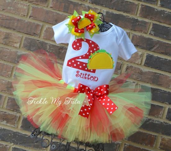 Taco TWOsday Birthday Tutu Outfit