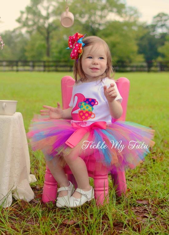 Tea Party Birthday Tutu Outfit
