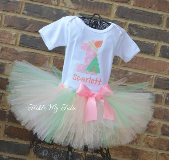 Teepee Birthday Tutu Outfit (pastel colors)
