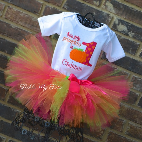This Little Pumpkin is ONE (any number) Birthday Tutu Outfit