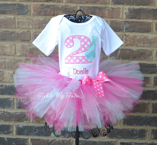 Tutus and Ties Birthday Tutu Outfit