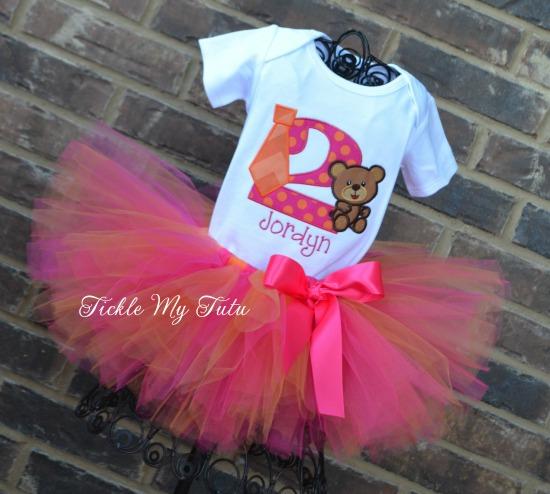 Tutus, Ties, and Teddy Bears Birthday Tutu Outfit