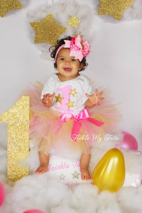 Twinkle Twinkle Little Star (Gold) Birthday Tutu Outfit