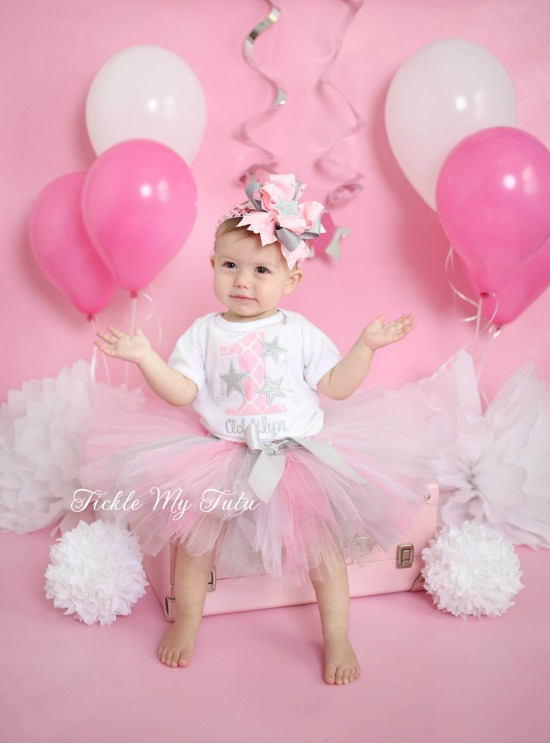 Twinkle Twinkle Little Star (Silver) Birthday Tutu Outfit
