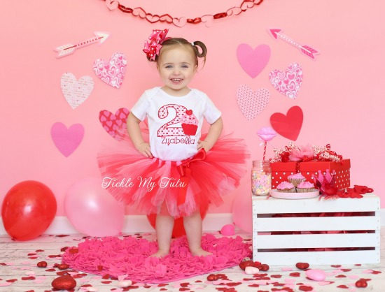Valentine Cupcake Sweetheart Birthday Tutu Outfit
