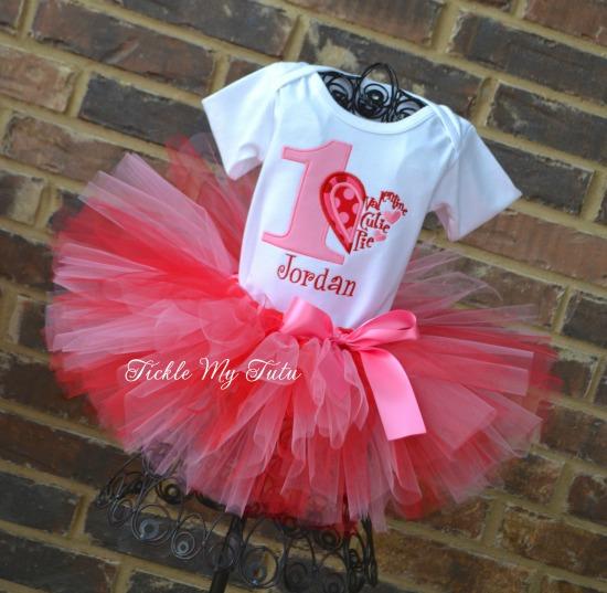 Valentine Cutie Pie Birthday Number Tutu Outfit