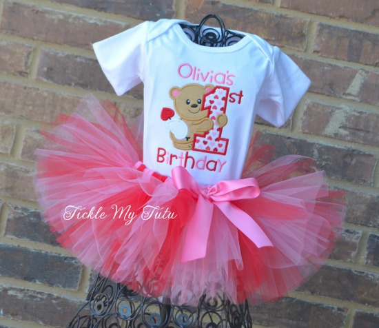 Valentine Birthday Tutu Outfit (cupid theme)