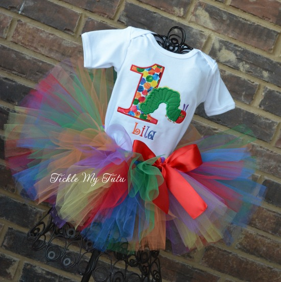 The Very Hungry Caterpillar Birthday Tutu Outfit