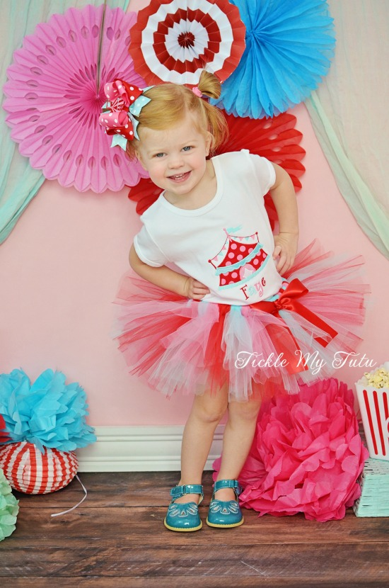 Under the Big Top Vintage Colors Circus Tent Birthday Tutu Outfit