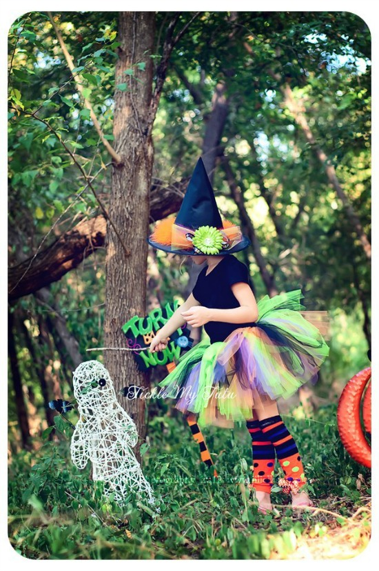 Wanda the Witch TWO PIECE Halloween Tutu Outfit Costume