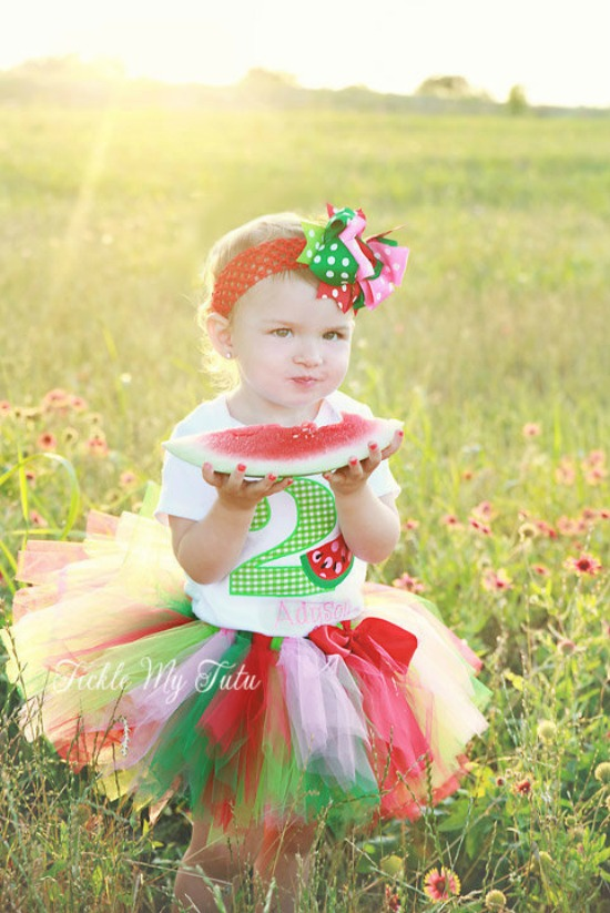 Watermelon Picnic Birthday Tutu Outfit