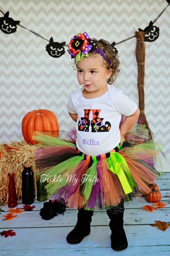 Witch's Feet Halloween Tutu Outfit