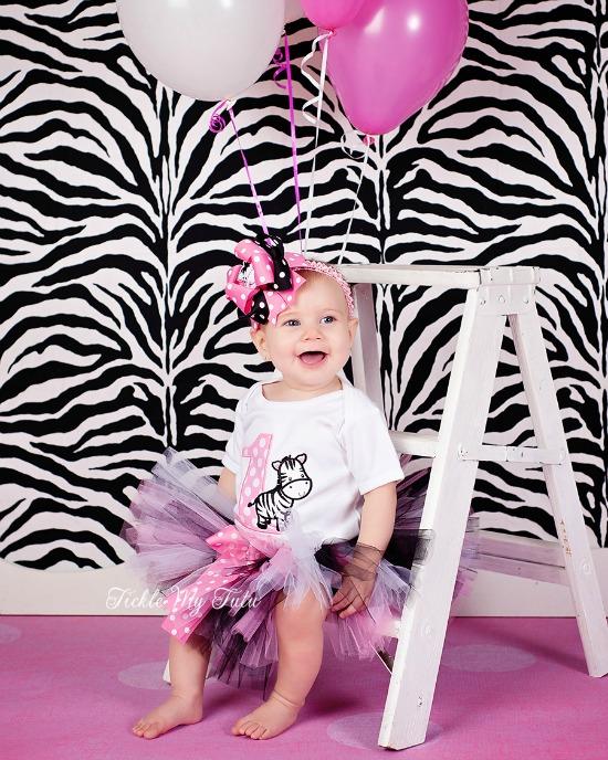 Zebra Birthday Tutu Outfit